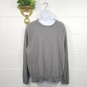 NWT Nordstrom 1907 Grey Pullover Sweater Slight Texture Cotton XL